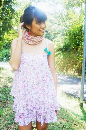 dress - H&M accessories - scarf - Nine West shoes