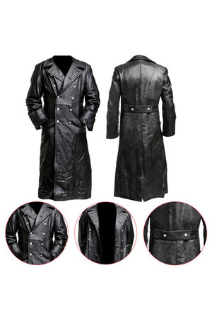 trench coat German Classic Officer Coat coat