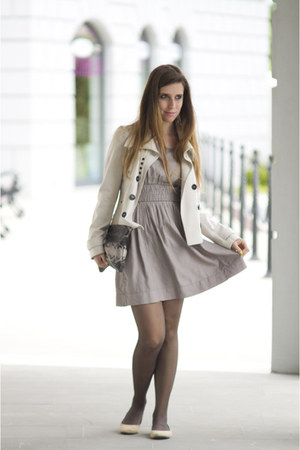 Burberry jacket - Only dress - Zara bag - H&M flats