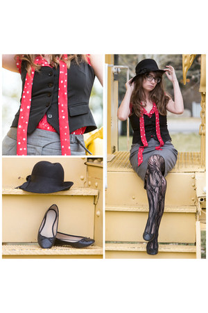 black lace Target tights - black Old Navy flats