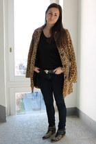 H&M coat - Zara boots - H&M belt