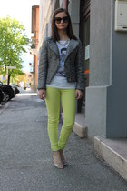 H&M jacket - Prada sunglasses - Tally Weijl pants - Sisley t-shirt