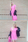 Bubble-gum-polyester-oasapcom-dress-hot-pink-oasap-dress