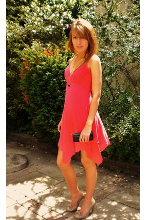 red dress - black Cartier - beige roberto vianni shoes - black accessories