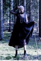 black maxi Mind the Mustard dress