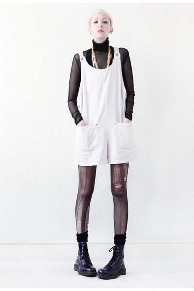 white playsuit Mind the Mustard bodysuit
