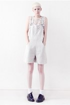 Nude Dungaree Shorts!!