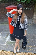 black Primark dress - black Primark bag - black new look cape
