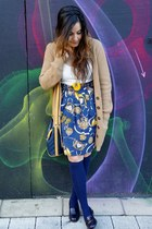 navy Primark dress - camel Primark cardigan - deep purple Office flats