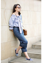 navy She In blouse - bronze Michael Kors bag