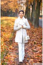new look coat - Michael Kors bag - Wrangler pants - Sinsay gloves