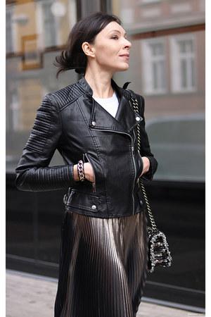 black Rosewholesale jacket - black Parfois bag - dark gray New Yorker skirt