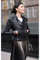 black Rosewholesale jacket - black Parfois bag - dark gray New Yorker skirt
