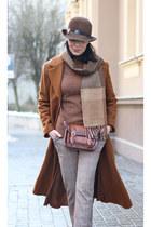 bronze sammydress coat - tawny sammydress bag