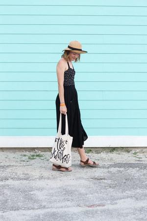 Target swimwear - Forever 21 hat - Hobby Lobby bag - thrifted pants