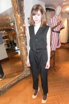 black vivienne westwood bodysuit - neutral vivienne westwood heels