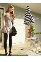Zara dress - Only leggings - Miss Selfridges shoes