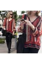 Dolce Vita boots - J Brand jeans - Ella Moss blouse