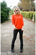 troopa Steve Madden boots - orange dot Marc by Marc Jacobs jumper