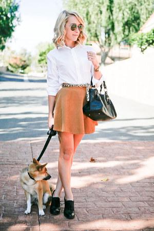 bronze American Apparel skirt - black medicine bag Top Shop purse