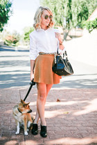 bronze American Apparel skirt - black medicine bag Top Shop purse