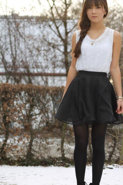 Zara flats - H&M skirt - Zara top