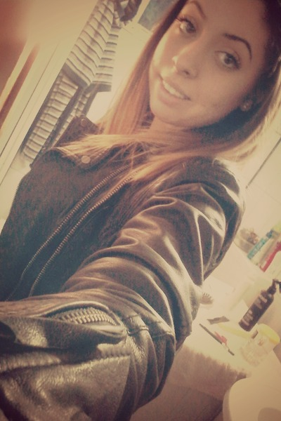 black Bershka jacket