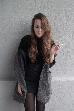 second hand coat - second hand skirt - second hand bodysuit