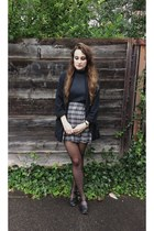 second hand sweater - second hand skirt