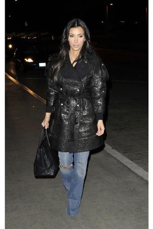 coat - jeans - purse