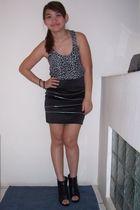 black shoes - black Tutu skirt