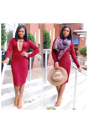 crimson blush dress