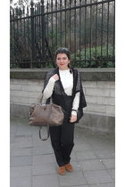SANDRO blazer - leather Bimba & Lola bag - suede leather Camilas loafers - high