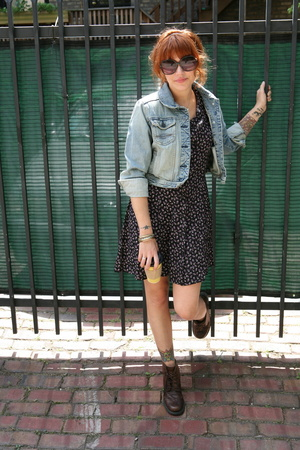 Levis jacket - dress - shoes