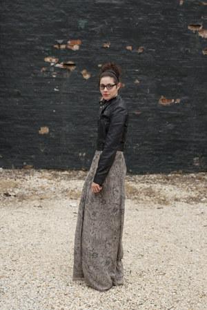 black LC for Kohls jacket - silver kimono style Winter Kate dress