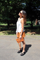 vintage top blouse - Sportsgirl bag - dont ask amanda shorts