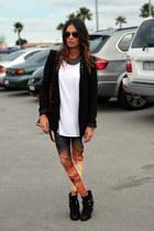Bam Bam leggings - Sportsgirl boots - Zara blazer - Bassike top