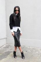 Wittner boots - Uniqlo shirt - asos skirt - cotton on jumper