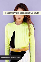 6 BELTS EVERY GIRL SHOULD OWN
