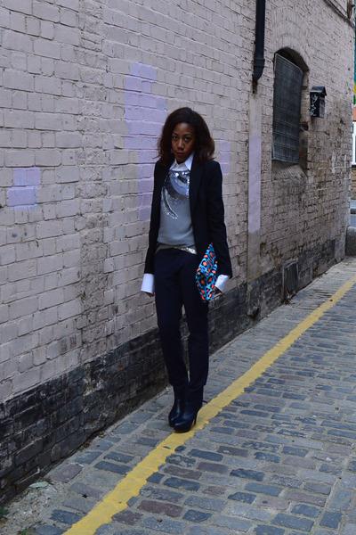 Zara boots - Zara blazer - Dquared2 shirt - leopard print from Korea bag