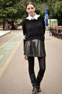 Black-miniprix-boots-black-stradivarius-sweater-ivory-marks-spencer-shirt