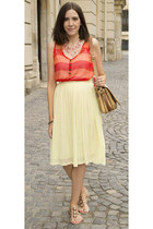 pleated romwe skirt