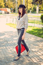 Heather-gray-kiabi-jeans-black-choies-hat-periwinkle-no-name-sweater