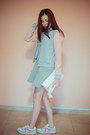 White-deichmann-shoes-periwinkle-milanoo-dress-silver-jacket