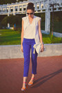 White-takko-shirt-off-white-new-yorker-bag-blue-front-row-shop-pants