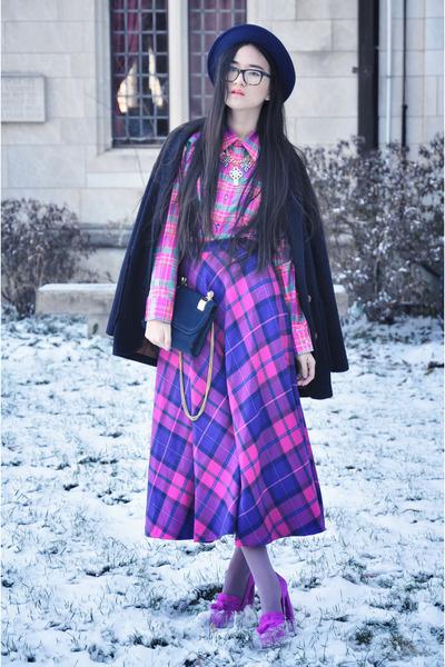 shoes - coat - hat - bag - skirt - blouse