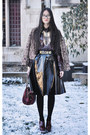 Jacket-bag-skirt-heels-blouse