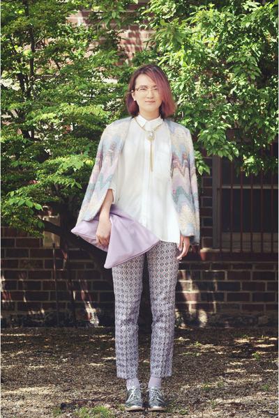 Topshop pants - Topshop blouse - Topshop accessories
