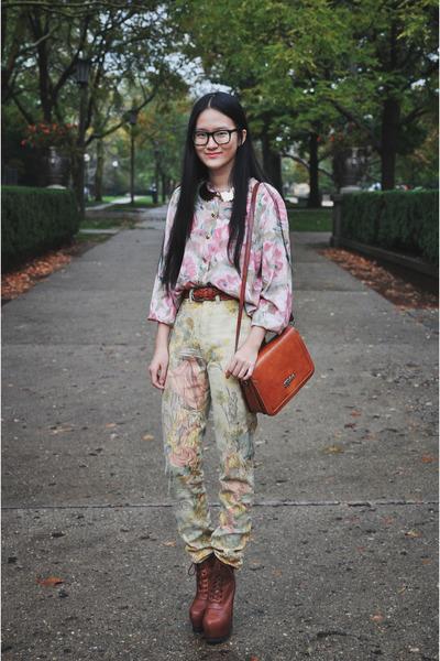 blouse - shoes - bag - belt - pants