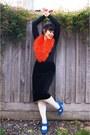 Novo-heels-asos-tights-sportsgirl-scarf-miss-shop-top-thrifted-skirt